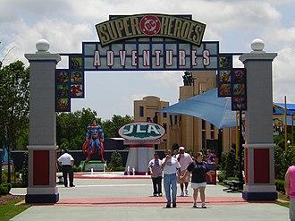 DC Comics Super Hero Adventures - Image: Six Flags New Orleans Entrance to Super Heroes Adventures