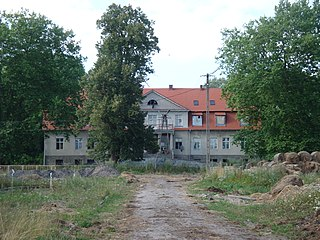 Skórzyno Village in Pomeranian, Poland
