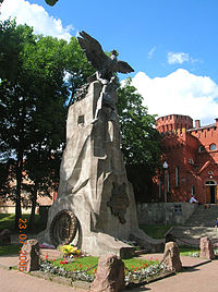 Eagles monument in Smolensk, commemorating the centenary of the Russian defeat of Napoleon.