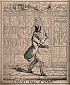 Snow falls on to the head of a passer-by as it is shovelled Wellcome V0040765.jpg