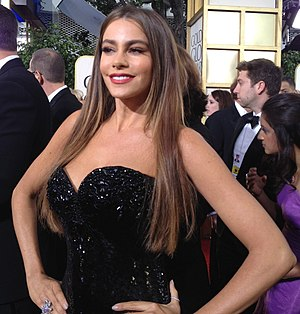 Sofía Vergara - Vergara at the 2013 Golden Globe Awards