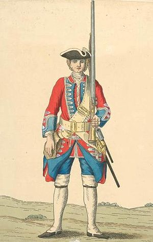 Royal Norfolk Regiment - Soldier of 9th regiment, 1742