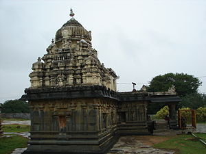 Kurudumale - Image: Someshvara Temple at Kurudumale (rear view)