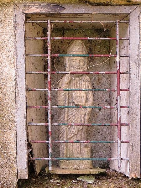 Détail de la statue de Saint Éloi