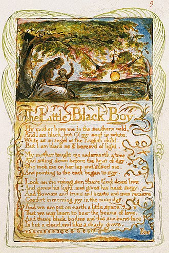 The Little Black Boy - Image: Songs of Innocence and of Experience, copy Y, 1825 (Metropolitan Museum of Art) object 9 The Little Black Boy