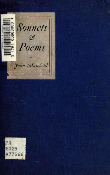 File:Sonnets and poems, Masefield, 1916.djvu