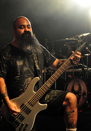 Tony Campos - Tony Campos performing with Soulfly on September 2, 2012