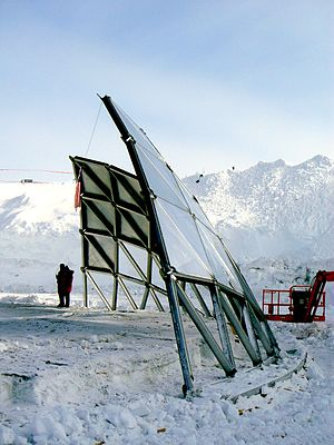 Amundsen–Scott South Pole Station - January 2010: The last section of the old dome, before it was removed the next day.