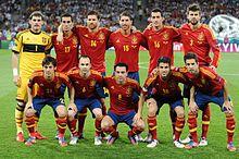 La nazionale spagnola prima della finale del campionato europeo 2012