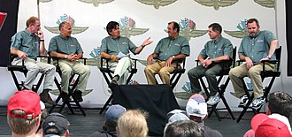 Speed (TV network) - Speed's former Formula One commentators record a panel discussion at the 2006 United States Grand Prix at Indianapolis Motor Speedway (left to right – Derek Daly, Peter Windsor, Bob Varsha, David Hobbs, Sam Posey, Steve Matchett).