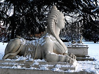 John Cheere - Image: Sphinx by John Cheere protecting the rear of Chiswick Villa