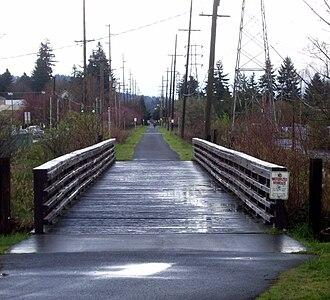 Springwater Corridor - Image: Springwater trail se 45th eastbound P2157