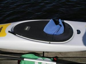 Spray deck - Spraydeck on a kayak.