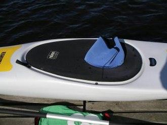 Spray deck - Spraydeck on a kayak.