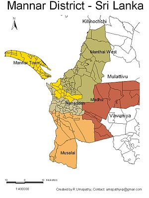Mannar District - Image: Sri Lanka Mannar District