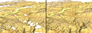 Shuttle Radar Topography Mission - SRTM void filling with spline interpolation in GRASS GIS.