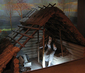 Srubna culture - A reconstructed hut of the Srubna culture.