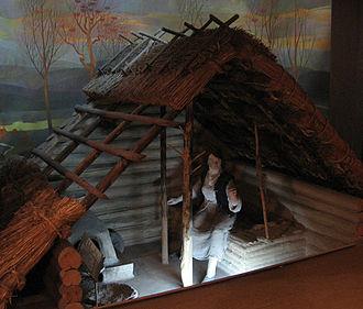 Srubna culture - A reconstructed hut of the Srubna culture.