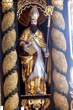 St.Wolfgang am Stein Kirche - Hochaltar 7 Valentin
