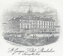 St. George's Hotel, Llandudno: facing the sea