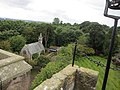St. Thereotas Chapel, viewed from top of Fordell Castle (geograph 5636257).jpg