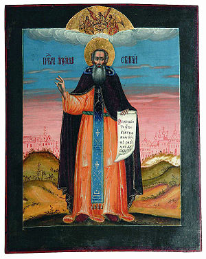 Alexander Svirsky - 18th century icon of Alexander Svirsky.
