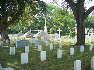 : St. Augustine National Cemetery. Dade monuments.
