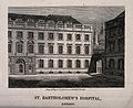 St Bartholomew's Hospital, London; a corner of the Gibbs cou Wellcome V0013010.jpg