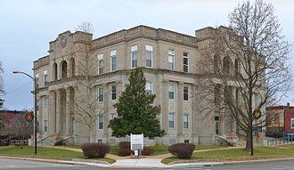 St. Francois County, Missouri - Image: St Francois County Missouri Courthouse 20150101 073 pano