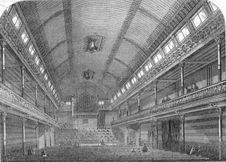 St. George's Hall, London - From Illustrated London News, 29 June 1867