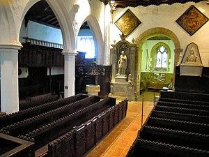 Church of St Leonard, Old Warden - The nave in St Leonards