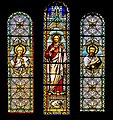 Stained glass windows of the church of Our Lady of the Purification of Cassaniouze 03.jpg