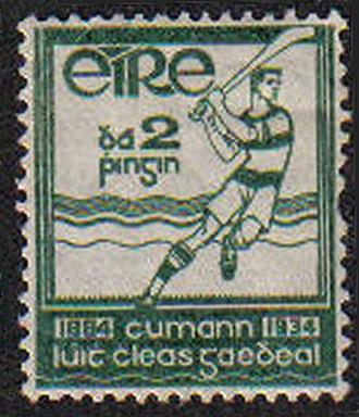 1934 All-Ireland Senior Hurling Championship - Image: Stamp Irl 1934 GAA Golden Jubilee