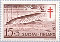 Stamp of Finland - 1955 - Colnect 46208 - Northern Pike Esox lucius.jpeg