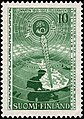 Stamp of Finland - 1955 - Colnect 46217 - Transmission Tower on Map of Finland.jpeg