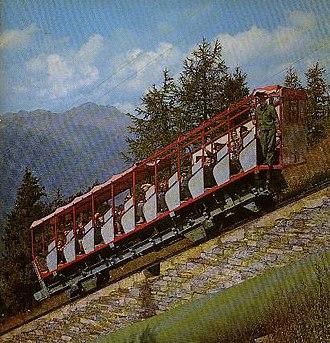Reisseck Railway - The old railway in 1968 alongside the pipe