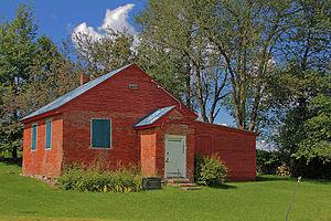 Stanstead-Est, Quebec - Mansur Rural School in Stanstead-Est