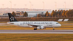 Star Alliance Aegean Airlines Airbus A320-232 VQ-BEI MUC 2015 01.jpg