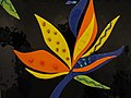 Starr-120530-6761-Strelitzia reginae-glass art piece-Hui Noeau Makawao-Maui (25050958591).jpg