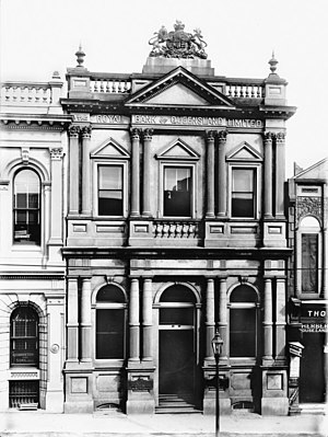 Royal Bank of Queensland - Royal Bank of Queensland, Queen St, Brisbane, ca. 1900