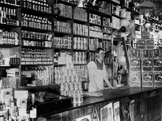 StateLibQld 1 115060 Interior of a shop at Killarney, 1910-1920