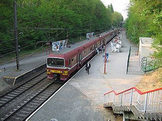 Belgian railway line 26 - An MS/AM86 train at Boondaal station in 2007