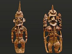Uli figure - Uli figures from New Ireland, 19th century (Ethnological Museum of Berlin).
