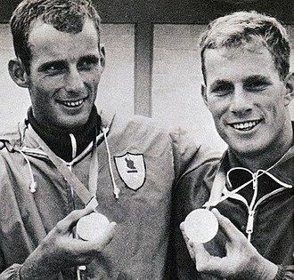 Jan Johansen (canoeist) - Johansen (right) in 1968
