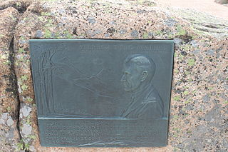 Mather Plaque in Acadia National Park