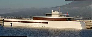 Venus (yacht) - Image: Steve Jobs Yacht Venus in Portugal (Faial Island)