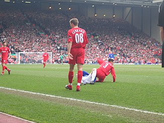 Squad number (association football) - Steven Gerrard of Liverpool wearing 08 in the Merseyside derby in March 2006, to commemorate the City of Liverpool becoming the 2008 European Capital of Culture.