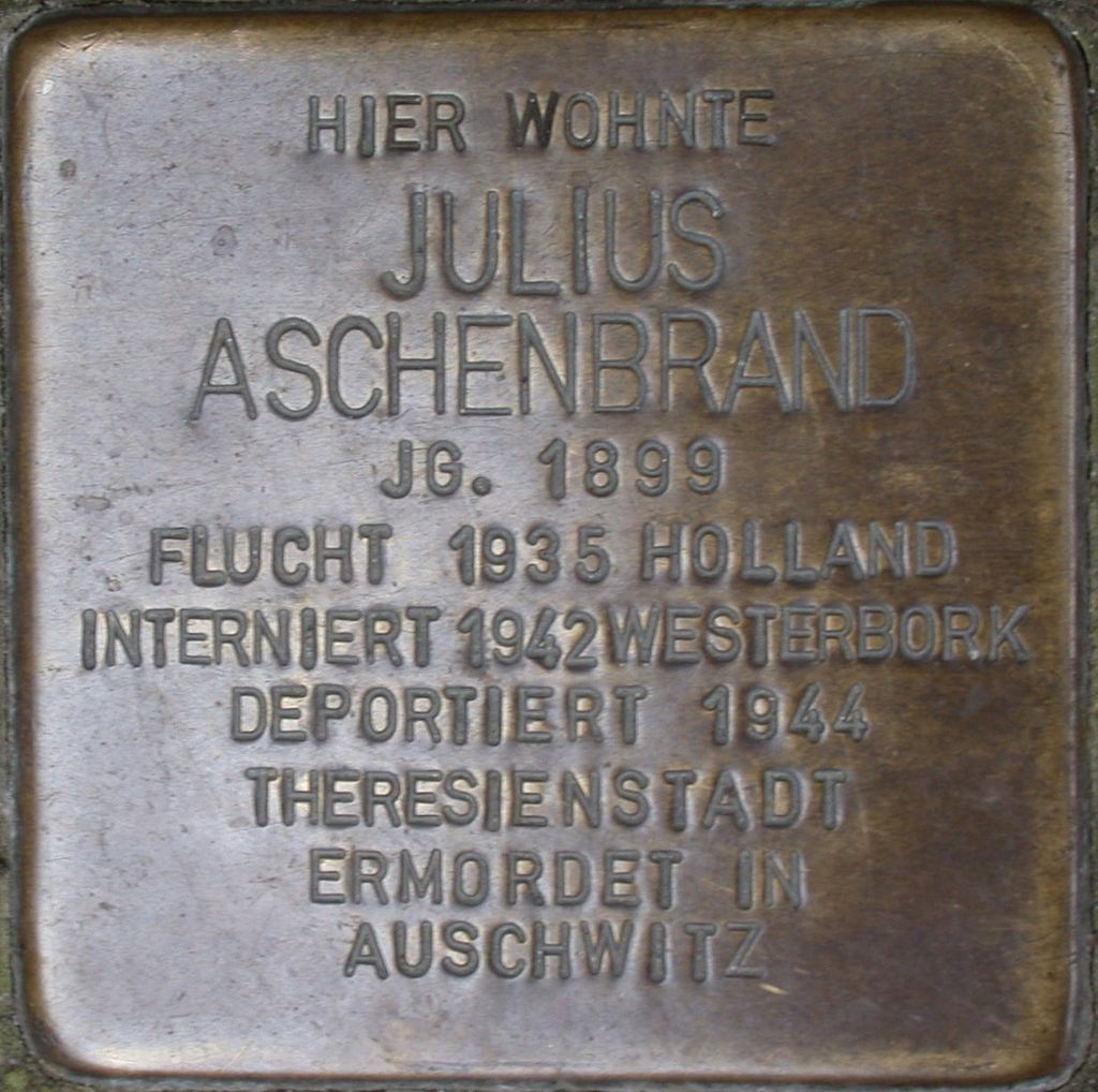 Stolperstein Aschenbrand, Julius.JPG