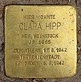 Stolperstein Eisvogelweg 5 (Zehld) Clara Hipp.jpg
