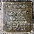 Stolperstein Groninger Str 22 (Weddi) Albert Kayser.jpg